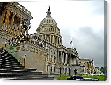 The United States Capitol Canvas Print by Jim Fitzpatrick