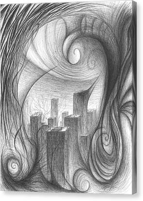 The Unsuspecting City Canvas Print by Michael Morgan
