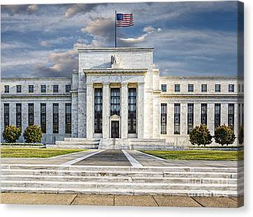 The Us Federal Reserve Board Building Canvas Print by Susan Candelario