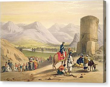 The Valley Of Maidan, From Sketches Canvas Print by James Atkinson