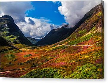 The Valley Of Three Sisters. Glencoe. Scotland Canvas Print by Jenny Rainbow