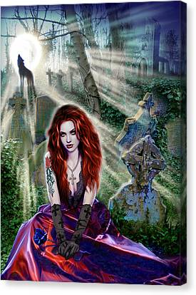 The Vampiress Canvas Print by Andrew Farley