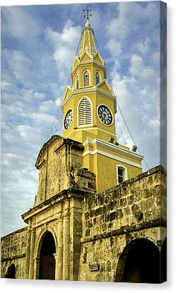 The Venerable Clock Tower, Torre Del Canvas Print by Jerry Ginsberg