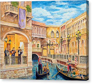 The Venetian Canal  Canvas Print by Vicki  Housel