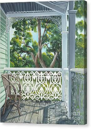 The Verandah Canvas Print by Merrin Jeff