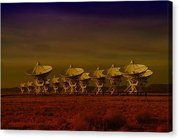 The Very Large Array In New Mexico Canvas Print by Jeff Swan