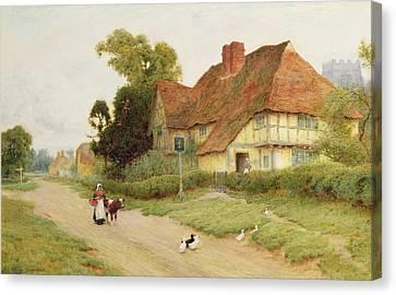 The Village Inn Canvas Print by Arthur Claude Strachan