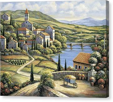The Village Canvas Print by John Zaccheo