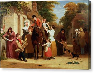 The Village Post Office Canvas Print by William Frederick Witherington