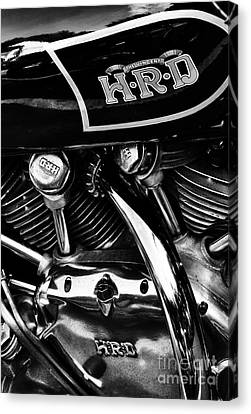 The Vincent Hrd Motorcycle Monochrome Canvas Print by Tim Gainey