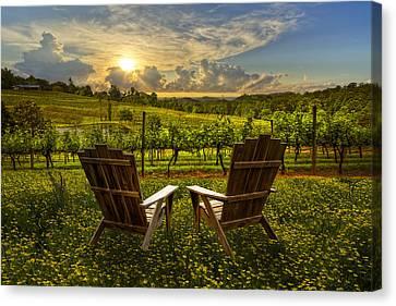 The Vineyard   Canvas Print by Debra and Dave Vanderlaan