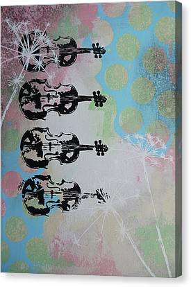 The Violins Canvas Print by Bitten Kari