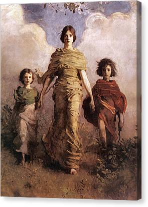 The Virgin Canvas Print by Abbott Handerson Thayer