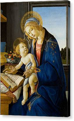 The Virgin And Child Canvas Print by Celestial Images