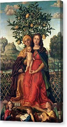 The Virgin And Child With Saint Anne Canvas Print by Gerolamo dai Libri