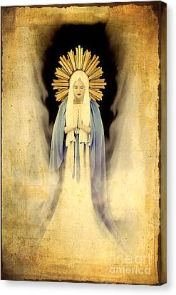 The Virgin Mary Gratia Plena Canvas Print by Cinema Photography