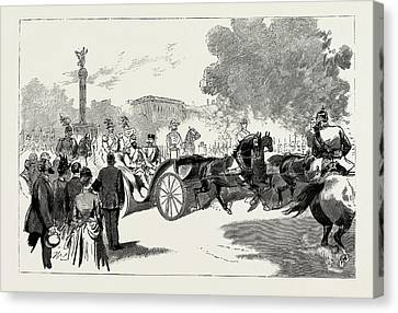 The Visit Of The Czar To The German Emperor At Berlin Canvas Print by Litz Collection