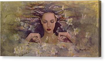 The Voice Of The Thoughts Canvas Print by Dorina  Costras