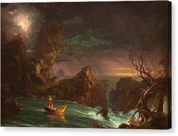 The Voyage Of Life Manhood Canvas Print by Thomas Cole
