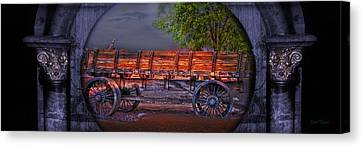 The Wagon Canvas Print by Gunter Nezhoda
