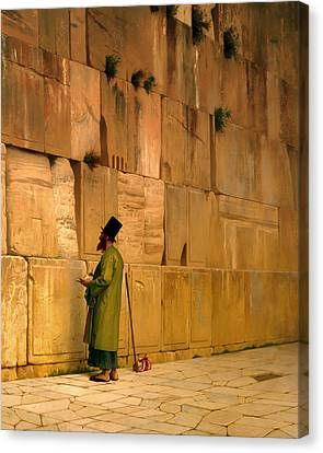 The Wailing Wall Canvas Print by Mountain Dreams