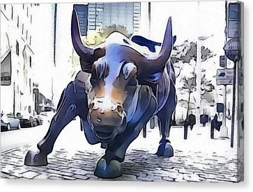 The Wall Street Bull Canvas Print by Dan Sproul