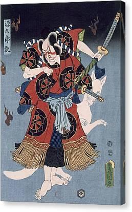 The Warrior Canvas Print by Utagawa Kunisada