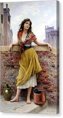The Water Carrier Canvas Print by Eugene de Blaas