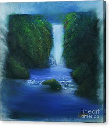 The Waterfall Canvas Print by David Kacey