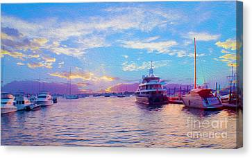 The Waters Are Calm Painting  Canvas Print by Jon Neidert