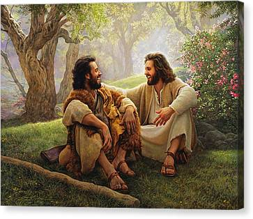 The Way Of Joy Canvas Print by Greg Olsen