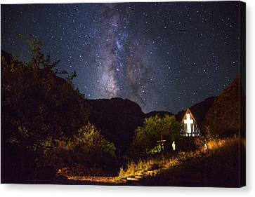 The Way To The Chapel Canvas Print by Aaron S Bedell