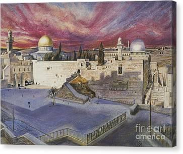 The Western Wall Canvas Print by Yael Avi-Yonah