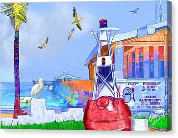 The Wharf Canvas Print by Gerry Robins