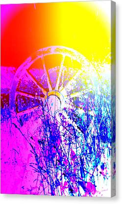 I Have A Wheel Of Colors But It's Standing Still  Canvas Print by Hilde Widerberg