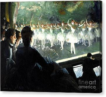 The White Ballet Canvas Print by Pg Reproductions