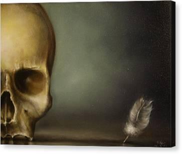 The White Feather Canvas Print by Simone Galimberti