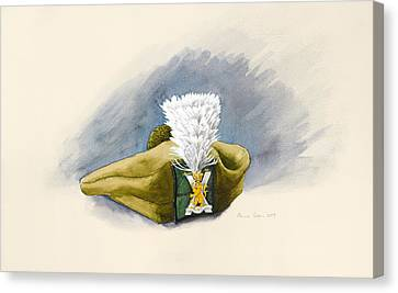 The White Hackle Canvas Print by Alison Cooper