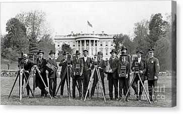 The White House Photographers Canvas Print by Jon Neidert