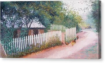 The White Picket Fence Canvas Print by Jan Matson