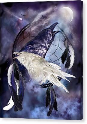 The White Raven Canvas Print by Carol Cavalaris