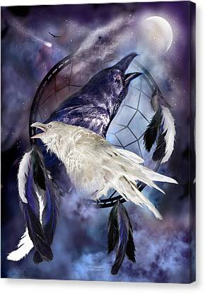 The White Raven Canvas Print by Carol Cavalaris