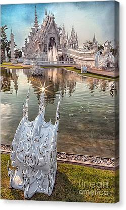 The White Temple Canvas Print by Adrian Evans