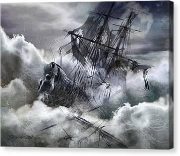 The White Wave Canvas Print by Stefano Popovski
