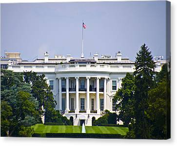 The Whitehouse - Washington Dc Canvas Print by Bill Cannon