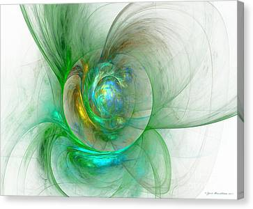 The Whole World In A Small Flower Canvas Print by Sipo Liimatainen