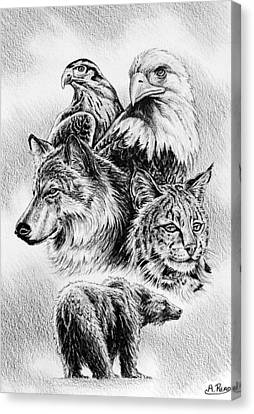 The Wildlife Collection 1 Canvas Print by Andrew Read