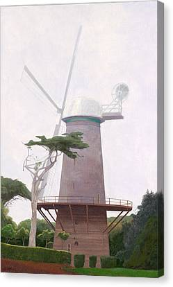 The Windmill Canvas Print by Leonard Filgate