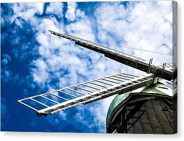 The Windmill Canvas Print by Toppart Sweden