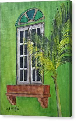 The Window Canvas Print by Gloria E Barreto-Rodriguez